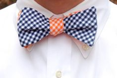 I'm not usually one for reversible bow ties, but I kind of like the color switch.