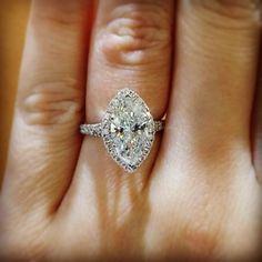 Halo marquise engagement ring! Www.diamondsbyrts.com