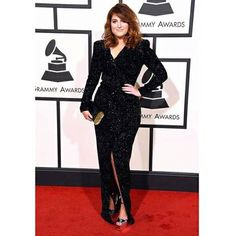 Meghan Trainor, 58° Grammy Award Beautiful Dresses, Nice Dresses, Dresses For Work, Dresses With Sleeves, Fashion Mode, Modest Fashion, Fashion Outfits, Celebrity Red Carpet, Celebrity Look