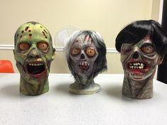 Styrofoam Zombie Heads