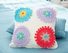 Bernat: Pattern Detail - Waverly for Bernat - Colorful Cogs Afghan & Pillow