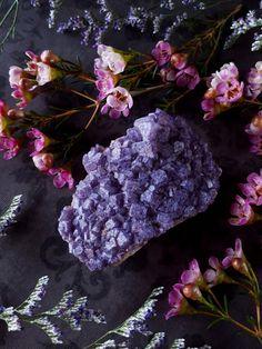 Fluorit Kristall  Lavendel Fluorit Cluster  von bionicunicorn