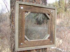 Barnwood Mirror by CCCHandmades on Etsy, $59.95