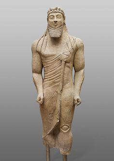 Votivstatue eines Mannes; Zyprisch, Eisenzeit, archaisch, 550 - 525 v. Chr. | Kunsthistorisches Museum Wien