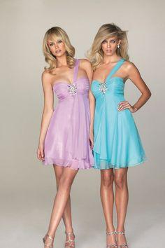 $99.99 Cheap Homecoming Dresses Prom Dresses Party Dresses One Shoulder Short Mini