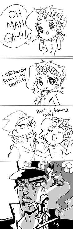 Kakyoin and Jotaro... I laugh every time I see this...