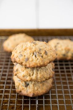 Oatmeal breakfast cookies. No time for breakfast? Grab a few of these to-go…