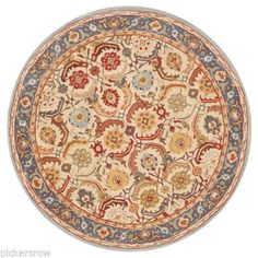 Pottery-Barn-Eva-Persian-Style-Wool-Rug-8-Diameter-New-With-Tags