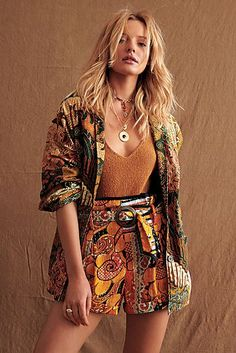 Wren Dolman Blazer by Free People, Tan, S Punk Fashion, Home Fashion, Girl Fashion, Fashion Dresses, Fashion 101, Lolita Fashion, Retro Fashion, Boho Outfits, Summer Outfits