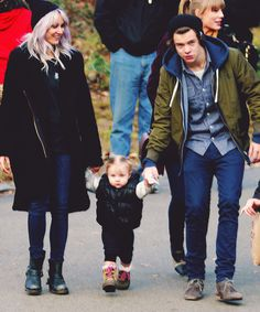 Lou Teasdale & Harry Styles with baby Lux xx….and Taylor.