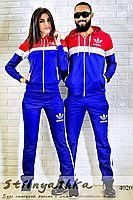 Спортивный костюм мужской и женский Adidas индиго лампас 4020