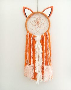 Benny Fox Dream Catcher by CatchingDreamsYQR on Etsy https://www.etsy.com/ca/listing/525107491/benny-fox-dream-catcher