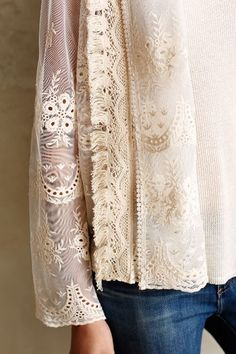 Cute, but color is bad for me.  Cropped Lace Jacket - anthropologie.com #anthroregistry