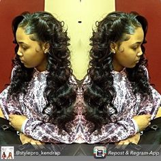 @stylepro_kendrap one of the most renown stylists in the industry and is one of #Detroit's finest. She specializes in sew ins and has her own line of Mink Virgin hair.  If you have the opportunity to get an appointment with her you won't be disappointed! ✂️========================== Go to VoiceOfHair.com ========================= Find hairstyles and hair tips! =========================