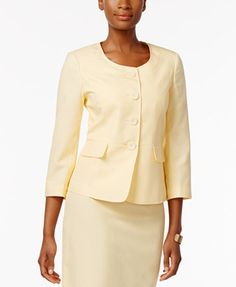 Le Suit Seersucker Skirt Suit | macys.com