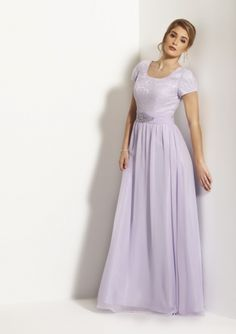2015 Romantic Wisteria Appliques A-Line Floor-Length Short Sleeves Zipper Up Iridescent Chiffon Mother of the Bride Dresses by Bonny 7532