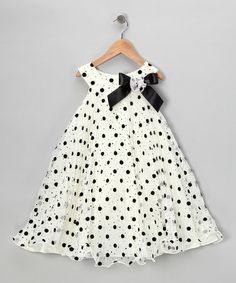 {Ivory Polka Dot Yoke Dress - Infant, Toddler & Girls by Gerson & Gerson}