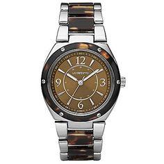 Reloj Liz Claiborne con malla de Resina de Tortuga  Precio: $100