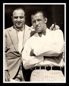 Capone with Jack Sharkey, Florida, Feb. 13,1929-eve of St. V's Day Massacre