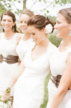 Beautiful bride and bridesmaids, from an Indiana Wedding by Austin Warnock Photography