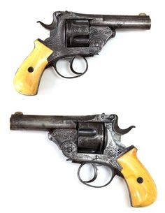 Myers Patent ivory handled revolver, late 19th century.