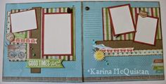 Candid Crafter: Seaside WOTG Alternate layout with added embellishments and stamping. #CTMH #Seaside #layout