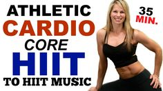 Athletic Cardio Core HIIT Workout, Cardio No Equipment HIIT Workout