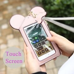 Women Touch Screen Cute Animal Shape Card Holder Phone Bag Coin Purse sales at a good price. Come to Newchic to buy a wallet, more cheap women wallets are provided online Mobile. Disney Cruise, Disney Trips, Walt Disney, Mobiles, Purse Wallet, Coin Purse, Disney Lanyard, Disney Tsum Tsum, Online Mobile
