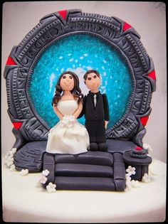 Stargate Cake  Cake by CocoJo. This will be at my wedding!