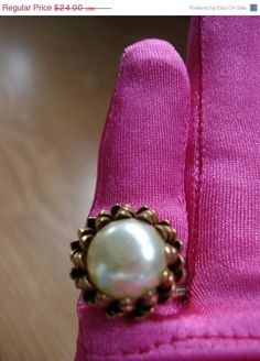 ICE ICE SALE Vintage 1960s Statement Ring Pearl by bycinbyhand,