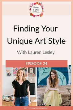 In this episode of Design and Shine, I talk to artist and surface pattern designer Lauren Lesley about finding your unique art style. We cover when you do and don't need to worry about developing your own style, the mindset battles that are commonly faced and how to stay consistent. Lauren also shares her tips on sending your portfolio to clients to get work. Textile Design, Fabric Design, Inspiration For Kids, Design Inspiration, Kids Patterns, Photoshop Tips, Surface Pattern Design, Geometric Designs, Beautiful Children