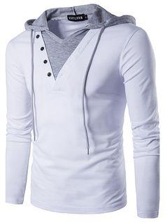 Men's Casual Long Sleeve Hoodie T Shirt Lightweight Hipster Hip Hop Hooded Shirt - HerrenMode Slim Fit Hoodie, Camisa Polo, Hip Hip, Hoodie Sweatshirts, Top Hoodies, Sport T Shirt, Shirt Sleeves, Men Casual, Casual Tops