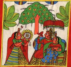 Mughal Paintings, Persian Miniatures, Rajasthani art and other fine Indian paintings for sale at the best value and selection. Rajasthani Painting, Rajasthani Art, Mughal Paintings, Indian Art Paintings, Madhubani Art, Madhubani Painting, Phad Painting, Painting Art, Indian Traditional Paintings
