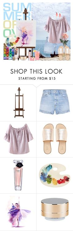 """Wanna do what I want"" by kimmmeo ❤ liked on Polyvore featuring EASEL, GRLFRND, L.E.N.Y., Lancôme, Fishs Eddy, WALL and Merkury"
