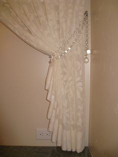 Left Over From Another Project And The Client Had Some Extra Chandelier Drops That Together Made A Perfect Set Of Tie Backs For Sheer Curtains Above