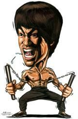 Character Drawings of Famous People | Cartoon: Caricature of Bruce Lee (medium) by jit tagged caricature ...