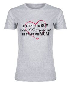 Loving this Athletic Heather 'Boy Who Stole My Heart' Fitted Tee on #zulily! #zulilyfinds