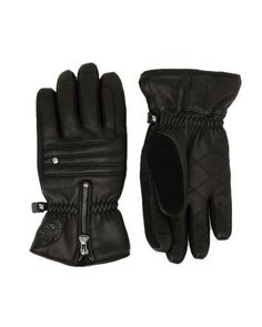 K2 Ski Snowboard Black Leather Gloves.  I bought these gloves for riding my scooter during the winter.  So soft inside!