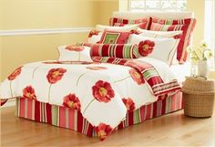 red+bedding | zzz Red Poppy Comforter Set - Nygard Home Bedding