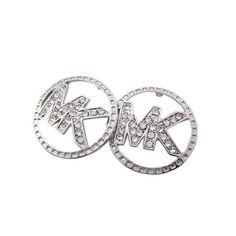 Best Michael Kors Slice Logo Silver Earrings Popular In The World