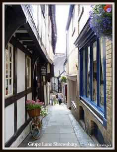 Medieval houses in Grope Lane Shrewsbury Shropshire. UK. by mike 42, via Flickr
