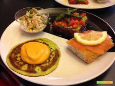 Senza Bimby, PanCake alle Zucchine con Crema Carote e Feta  #ricette #food #recipes