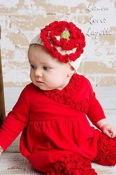 Lemon Loves Layette True Red Olivia One Piece *Preorder*