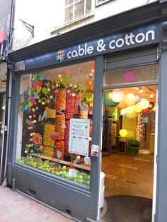 Cable and Cotton, Brighton Yarn Display, Cable And Cotton, Brighton Rock, Shop Fronts, Shop Window Displays, Retail Space, Cotton Lights, Cafe Restaurant, Love People