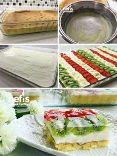 Meyveli Hafif Pasta Malzemeler Kek için; 3 yumurta 1 su bardağı şeker 1 su bardağı un 1 paket kabartma tozu 1 paket vanilya Krema için; 1 litre süt 3 y... - f. özbağ - Google+
