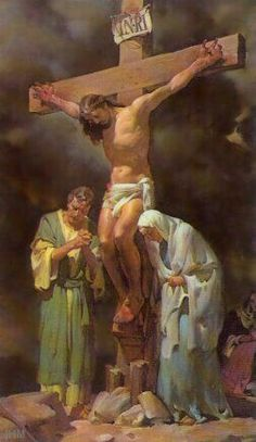 you may want to forget that Jesus suffered and died,and rose from the dead on the third day But i am not ashamed of the bloody cross of Christ! I need to be reminded of the aweful price Jesus paid for my eternal life. Pictures Of Jesus Christ, Religious Pictures, Religious Art, Jesus Our Savior, Jesus Is Lord, Religion, Saint Esprit, Jesus On The Cross, Blessed Mother