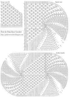 Gráfico do Jogo de Banheiro Oval         Peguei o gráfico aqui: Pink Rose Crochet     Com o botão direito do mouse clique em cima da imagem...