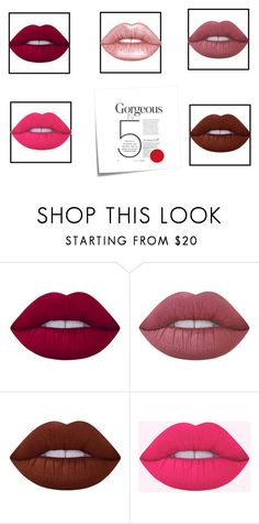 """""""Lips"""" by lilyismyname-13 ❤ liked on Polyvore featuring beauty, Lime Crime, Post-It, love, beautiful and glossylips"""