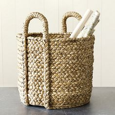 Set of 2 Newport Braided Round Baskets | Ballard Designs | $149/set