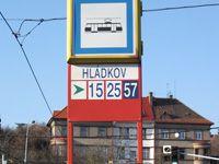 Hladkov, a tram stop close to our dorm